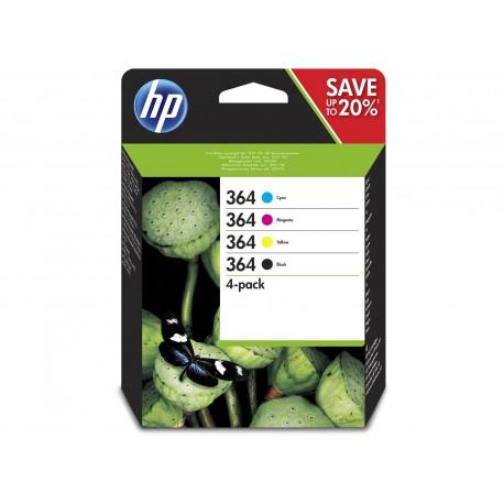 HP 364 CMYK Ink Cartridge Combo 4-Pack