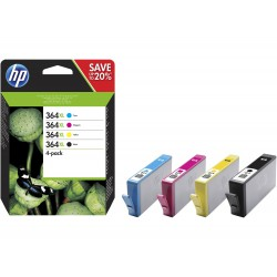 HP 364XL CMYK Ink Cartridge Combo 4-Pack