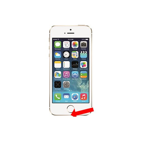 iPhone 5S Ladestik reparation Hvid