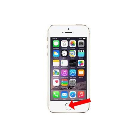 iPhone 5S Homeknap reparation Hvid