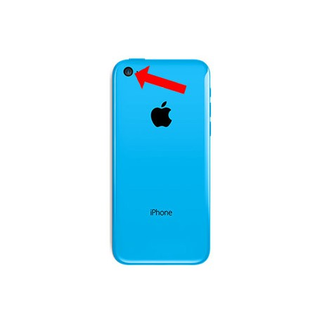 iPhone 5C bagkamera reparation