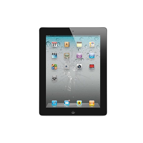iPad 2 Glas reparation Sort, OEM