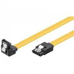 Goobay SATA III kabel 0,5M GUL med sikri
