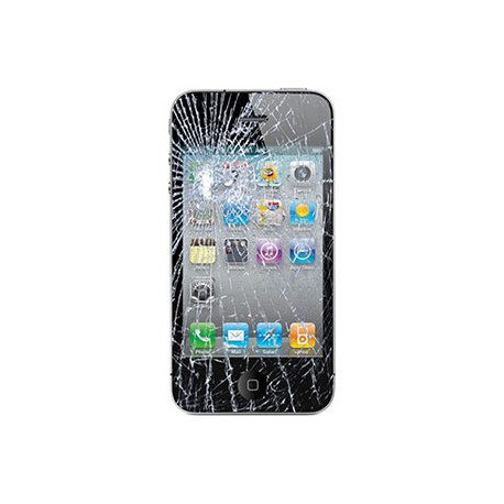 iPhone 4 Glas reparation Sort, BG