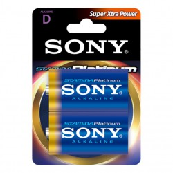 SONY 2x Batterie 1.5V LR20 Blister Alkal