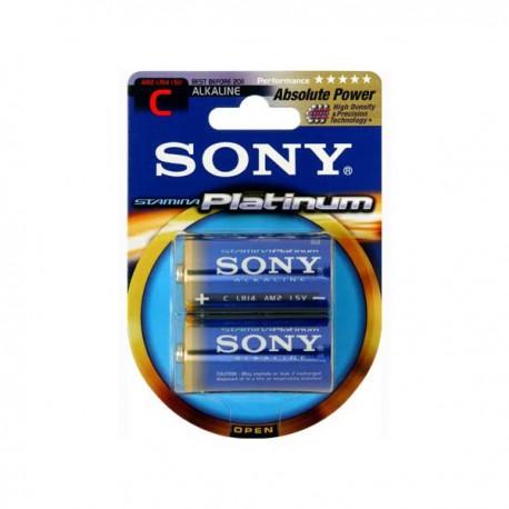 SONY 2x Batterie 1.5V LR14 Blister Alkal