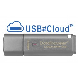 KINGSTON 32GB USB 3.0 DT Locker+ G3 w/Au