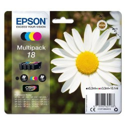 EPSON 18 ink cartridge black and tri-col