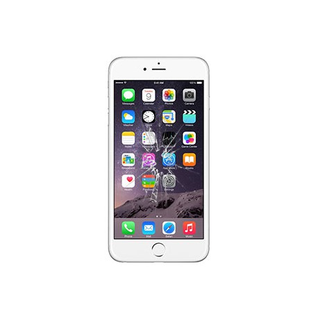 iPhone 6S Plus Glas Rep. Hvid BG-OEM