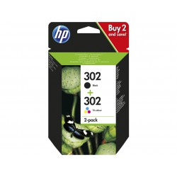 HP 302 - Black   Tri-Color Combi pack