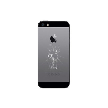 iPhone 5S Bagcover Reparation Sølv OEM