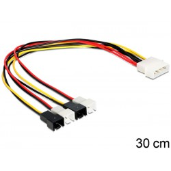 Delock  Molex 4x 2Pin Fan 0,30m