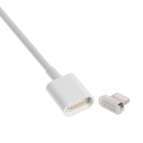 1m. magnet lightning kabel. Silver