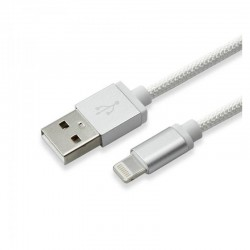 S-BOX Apple lightning, 1,5M Kabel, SØLV