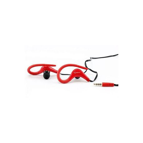 STEREO Trænings IN-EAR M. Mikrofon rød
