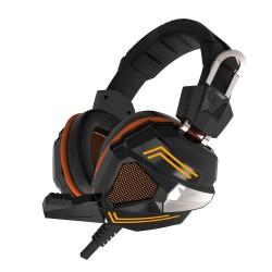 Havit Sort + Orange Gaming Headset