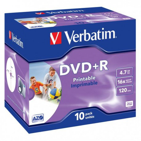 Verbatim DVD+R photo printable, 10 stk.