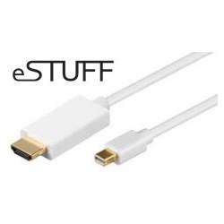 eSTUFF Mini DP til HDMI Cable 3m