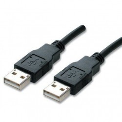 USB 2,0 Cable Han/Han sort 1,8M