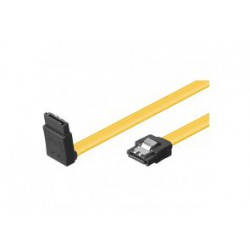 Sata III 6GBs kabel 1M Gul Vinklet