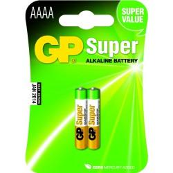 GP SUPER ALKALINE AAAA / LR61 2 stk