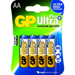 GP ULTRA PLUS ALKALINE AA LR6 4stk