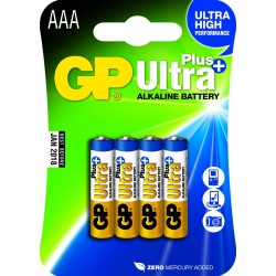 GP ULTRA PLUS ALKALINE AAA/LR03 4 stk