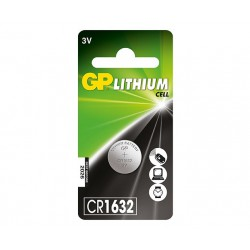 GP LITHIUM BUTTON CELL CR1632 1 stk