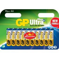 GP ULTRA PLUS ALKALINE AA/LR6 10 stk