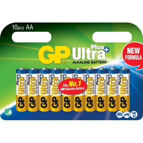 GP ULTRA PLUS ALKALINE AA/LR6 10 stk