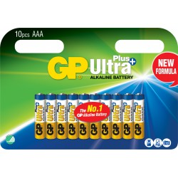 GP ULTRA PLUS ALKALINE AAA/LR03 10 stk