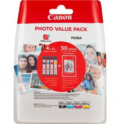 Canon CLI-581XL C M Y BK Photo Value Pac